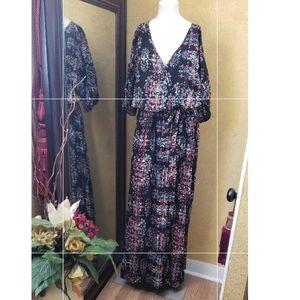 Xhilaration long maxi short sleeve dress XL